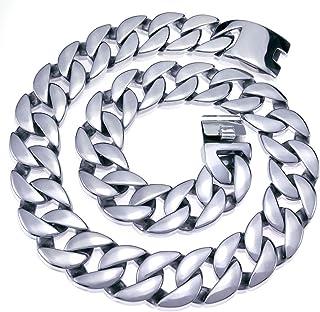 قلادة رجالية مجوهرات ثقيلة جدا 316L الفولاذ المقاوم للصدأ 24 مم وعرض 32 مم