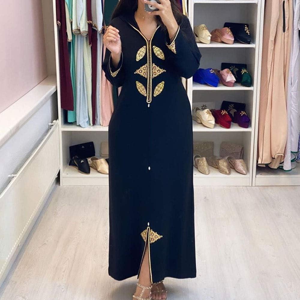 DSJTCH 2XL Muslim Dubai Abaya Max 65% OFF Islam Dress Prin Ranking TOP3 Women Long Kaftan