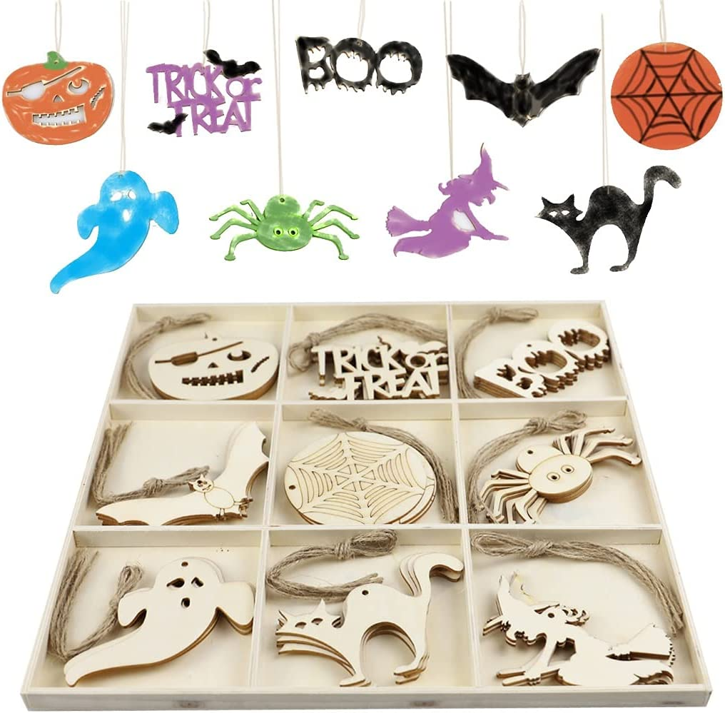72 PCS Halloween Wooden All items in the store Slices Hanging Al sold out. Tags Decorati Kit