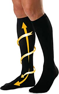 CABEAU Bamboo Compression Socks - Travel/Home Help Swelling/Blood Flow Black Large