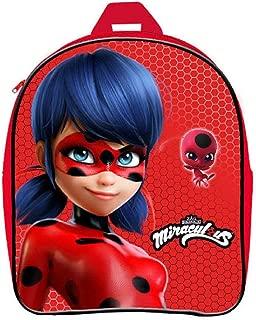 Disney Miraculous 1098 Sac /à Dos pour Enfant Motif Lady Bug Noir Noir