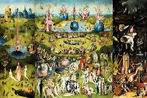 1art1 El Bosco - El Jardín De Las Delicias, 1500 Póster Impresión Artística (120 x 80cm)