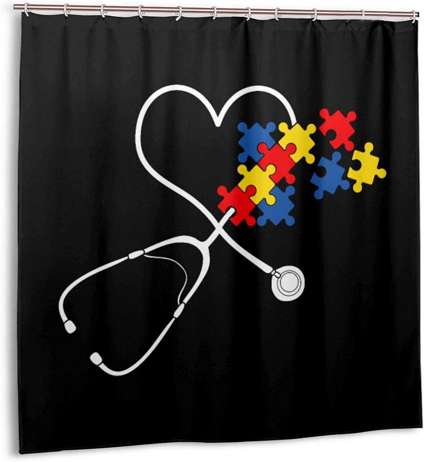 Stethoscope Autism Free Max 85% OFF shipping on posting reviews Nurse Shower Curtain Curtains Cont for