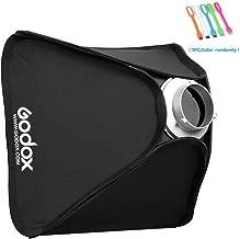 Godox Portable 32x32 inches /80x 80 Centimeters Studio Lighting Photo Softbox Diffuser Bowens Mount for Studio Flash Strobe with CONXTRUE USB LED
