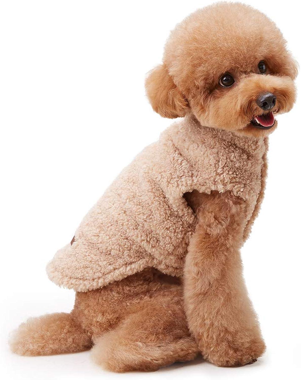 My Fluffy Dog Apparel Fulffy Warm Jacket for Dog Winter Coats Vest (XLage, Beige)