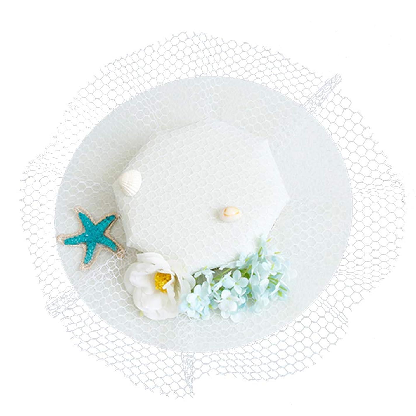 ブートバドミントンビリーLurrose 魅惑的な帽子ヘアピンフラワーシースターガーゼバレッタヘッドドレス