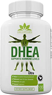 Pure DHEA Supplement 50mg Capsules by OrganyLife - Youthful Energy Levels for Women & Men -