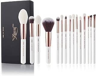 Jessup Brand 15Pcs Pearl White/Rose Gold Professional Makeup Brushes Set Make up Brush Tools kit Foundation Powder Definer Shader Liner T222