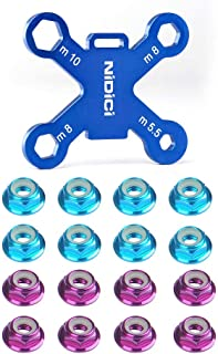 nidici Prop Nuts Lock nut with Propeller Mount Removal Spanner M5.5 M8 M10 Hex Nut Wrench Aluminum Alloy Quick Release Tool for Brushless Motor RC FPV Racing Drone