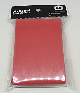 Yugioh Card Sleeves - Matte Red - 60ct