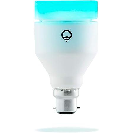 LIFX LHA19B22UC10 B22 Lampadina a LED Wi-Fi Smart, Regolabile, Dimmerabile, non Richiede un Hub, Funziona con Alexa, Apple HomeKit e Google Assistant, Multicolor, 6.3 x 6.3 x 11.7 cm
