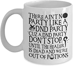 Ain't No Party Like a DND Party Mug - RPG Mug For Gamers Nerds and Geeks (White)