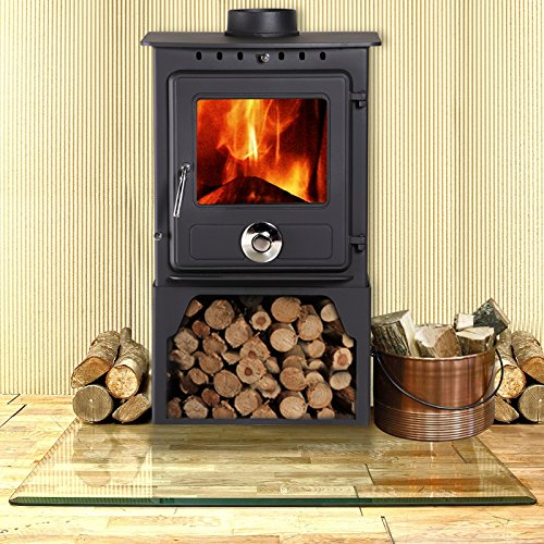 Lincsfire New Reepham 6.5KW Contemporary Woodburning Stove Multi Fuel Wood Burner Multifuel Fire...