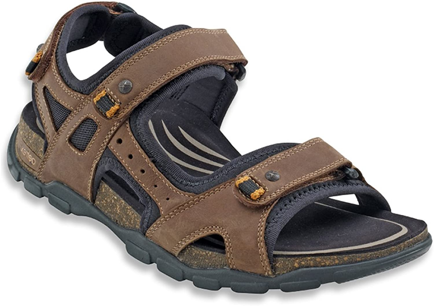 Aetrex Men's Largo Adjustable Quarter Strap Sandal