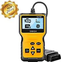 totobay OBD2 Coche Diagnóstico Escáner Automático Lector de Código de Vehículos con Standardem de 16 Pin Interfaz con Lectura y Borrado de Códigos de Error para Todos los Vehículos Desde 2000