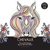 Chevaux - Happy coloriage - Mon carnet de coloriages & messages 100 % bonne humeur !