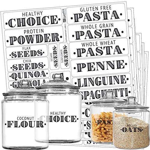 Talented Kitchen Farmhouse Pantry Labels – 110 Healthy Ingredients – Food  Pantry Label Sticker. Water Resistant, Food Jar Labels. Jar Decals Pantry  Organization Storage (Set of 110 – Non Main Pantry)- Buy