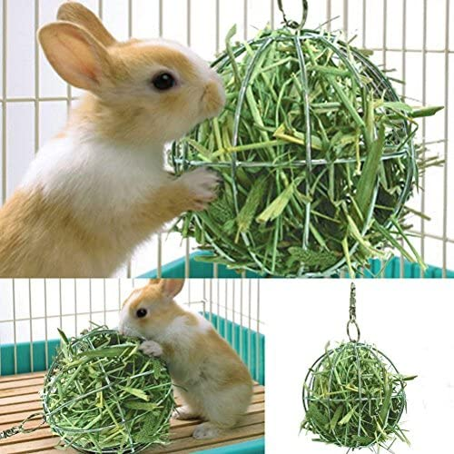 CoscosX Hay Manger Hanging Hay Feeder Rack Dispenser Food Ball Toy Pet Feeder Food and Grass product image