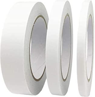 Zaleonline 3 Rolls White Double Sided Tape Adhesive Sticky Tape for Scrapbook, DIY Craft Projects, Card Making, Office Sch...