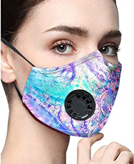 1pc Print Dust-proof Reusable Mouth Cover Filter Valve Adjustable Earloop Mouth Macks