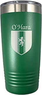 O'Hara Irish Coat of Arms Stainless Steel Green Travel Tumbler