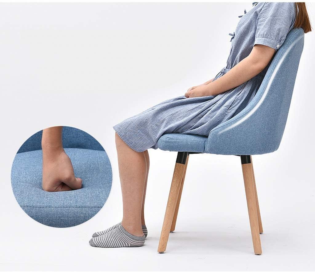 JHZY Fauteuil de loisir Table et chaise rétro en tissu en bois massif Chaise de salle à manger chaise de bureau d'hôtel restaurant (couleur : B) C