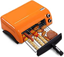 Horno Digital, Caja De Pan De Metal Naranja Con Bandeja De Pan De Ventana Con Orificios De Circulación De Aire 46.2 * 35 * 17.5 Cm