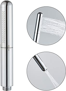 Handheld Showerhead Round Bar Solid Copper Bathroom shower enema High pressure Shower head wand Sprayer Chrome Finished Silve