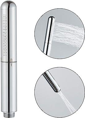 Handheld Showerhead Solid Copper Round Bar Bathroom hand-held shower head High pressure Shower heads Sprayer (Chrome)