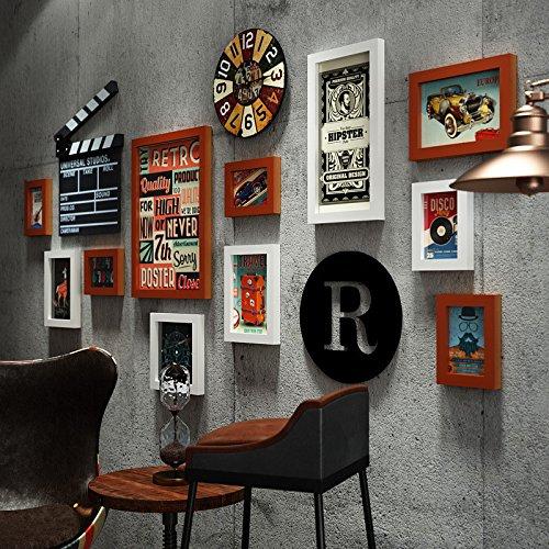 Home Decor Fotolijst Home Decor Picture Frame Afbeelding aan de muur zo de oude industriële ventilator fotolijst combinatie foto Wandklok Dasszwart en wit/11 Box
