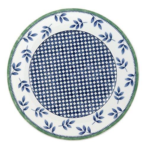 Villeroy & Boch Switch 3 Castell Frühstücksteller, mediterraner Speiseteller, spülmaschinen- und mikrowellengeeignet, blau/grün/weiß, rund, 21 cm