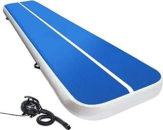 Air Track Gymnastics Inflatable Airtrack Mat and Electric Air Pump 4M X 1M Tumble Floor Gymnastic Training Cheerleading Yo...