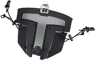 TMC Face Mask Spartan Metal Mesh Mask for Airsoft Paintball Milsim - Black