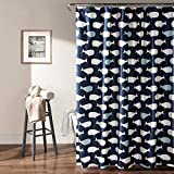Lush Decor Whale Shower Curtain