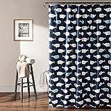 Lush Decor Whale Shower Curtain