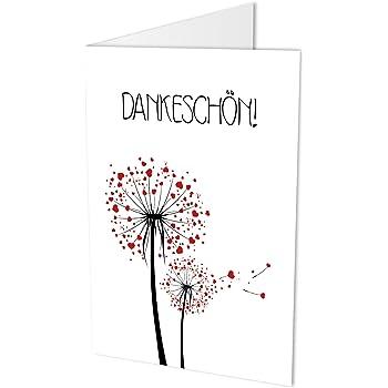10 Dankeskarten (Klappkarten) und 10 hochwertige, haftklebende Umschläge. Danke sagen, Hochzeit, Geburt, Baby, Taufe, Geburtstag, Jubiläum