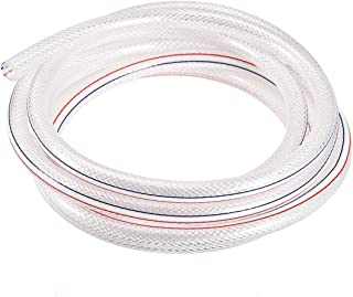 "uxcell PVC Line Hose Tube, 10mm(0.39"") ID x 14mm(0.55"") OD 3 M High Pressure Braided Clear Flexible Vinyl Tubing Water Pipe"
