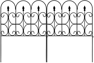 Best Amagabeli Decorative Garden Fence Outdoor Coated Metal Rustproof 32in x 10ft Landscape Wrought Iron Wire Border Folding Patio Fences Flower Bed Fencing Barrier Section Panels Decor Picket Edging Black Review
