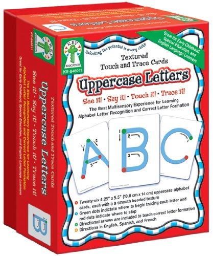 Carson-Dellosa Key Education Textured Touch and Trace: Uppercase Manipulative (846011)