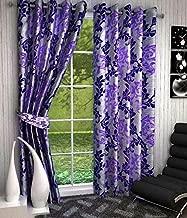 V Decor Fancy Eyelet Single 1 Piece Polyester Purple Curtain,Window 5 Feet