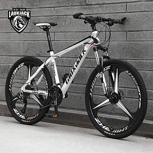 TPL 26 Inch Men's Mountain Bikes, High-carbon Steel Hardtail Mountain Bike, MTB with Front Suspension Adjustable Seat,New model 3 Spoke Wheel MTB, 21 Speed