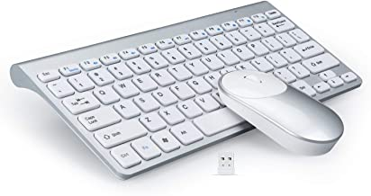 GEEKLIN Wireless Keyboards and Mouse Combo,2.4G Portable Slim Wireless Keyboard Mouse for Windows, pc,Ergonomic Design.