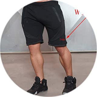 Mens Fitness Shorts Fashion Casual Gyms Bodybuilding Workout Male Calf-Length Short Pants