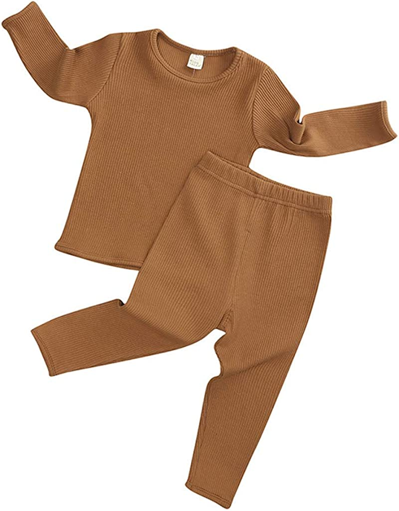 Infant Unisex Baby Boy Girl Popular brand Pajama Sleeve Knitted Solid Long T-S Online limited product