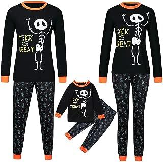 Family Pajamas Matching Set Skeleton Print Tops+Pants Set Baby Halloween Pajamas for Boys Girls Outfits Clothes