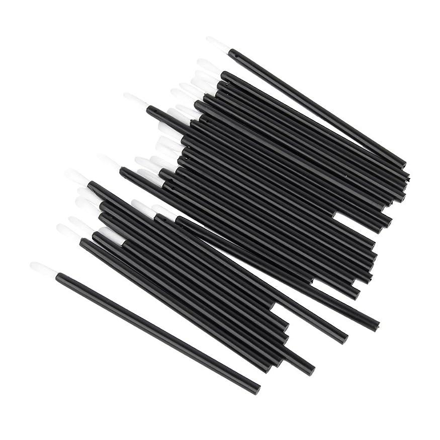 猛烈な福祉サンダルToygogo リップブラシ 使い捨て ブラック ナイロン毛 約25本セット