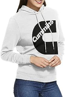 Women's Hooded Sweatshirt Pullover Cummins Logo Unique Original Style White