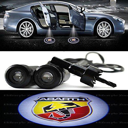 Proyectores LED luz de cortesía para la puerta del coche logo ABARTH...