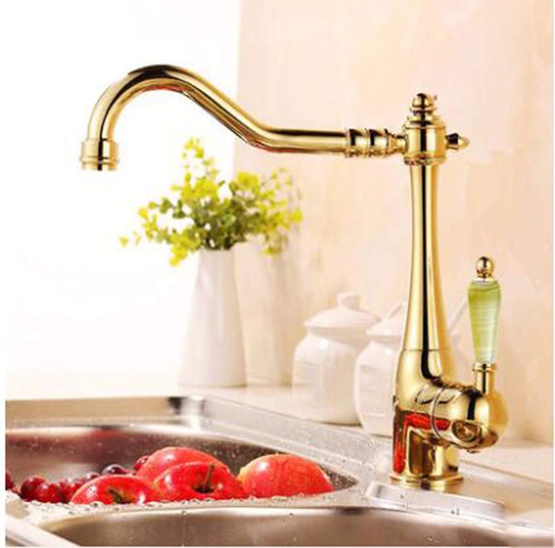 MulFaucet Kupfer Küchenarmatur antike Spüle heier und kalter Wasserhahn Mop Pool Mop Pool F