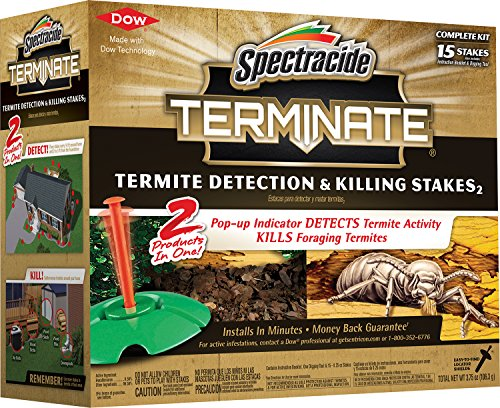 Spectracide 96115-1 Terminate Termite Detection & Killing Stakes, 15-Count, 6-Pack, Pack of 6